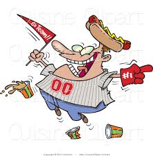 clipart cuisine supporter clipart cuisine vector clipart of a sports fan