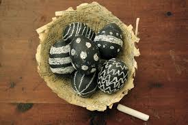 Decorating Easter Eggs With Silk by Chalkboard Easter Eggs Oleander Palm