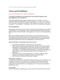 terms and conditions template 6 free templates in pdf word