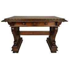 Small Walnut Desk Antique Italian Baroque Style Small Walnut Desk