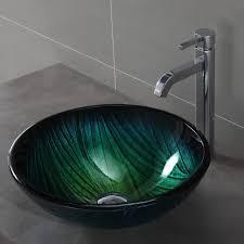bathroom glass kitchen sink fish bowl sink oval bathroom sink