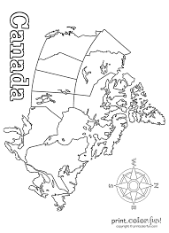 Map Of Canada And Usa by Map Of Canada Coloring Page Print Color Fun