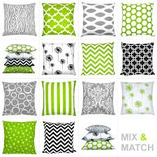 Wohnzimmer Grun Weis Kombination Kissen Grün Weiß Grau Schwarz Grafisch 40 X 40 Cm