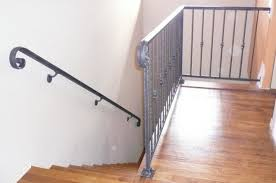 Wood Interior Handrails Interior Handrails Black Hawk Iron