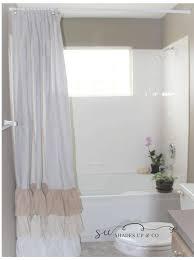Gypsy Ruffled Shower Curtain Shower Curtain Drop Cloth Painters Cloth Shabby Chic