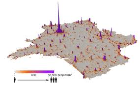 population density map use cellphone data to construct population density maps