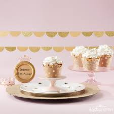 diy crown cupcake wrappers fit for a prince or princess kate
