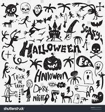 Cartoon Halloween Monsters Halloween Monsters Doodles Stock Vector 478445929 Shutterstock