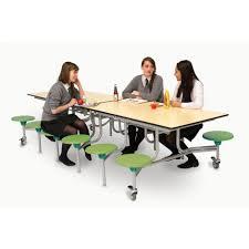 folding mobile rectangular dining table seats 12 people