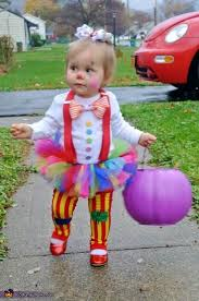 Cutest Infant Halloween Costumes Clown Costume Homemade Costumes Homemade Costumes