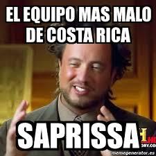 Costa Rica Meme - meme ancient aliens el equipo mas malo de costa rica saprissa