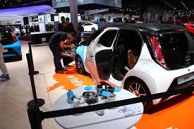 toyota custom cars custom car art toyota aygo at the paris motor show