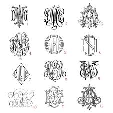 three letter monogram custom three letter monograms choose your style from antique