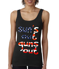 American Flag Price Ladies American Flag Sun U0027s Out Guns Out Tank Top