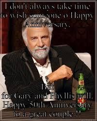 Wedding Anniversary Meme - happy 50th wedding anniversary quickmeme