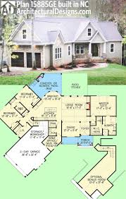 plan 15885ge affordable gable roofed ranch home plan craftsman