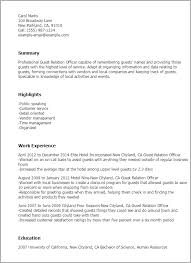 Stay At Home Resume Sample by Professional Guest Relation Officer Templates To Showcase Your