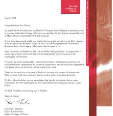 Awesome College Acceptance Letter Sapphire Ng I Am Awarded Scholarship To Attend Berklee College Of