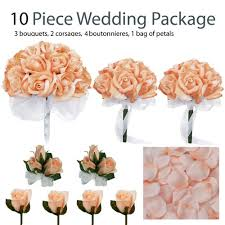 silk wedding flower packages 10 wedding package silk wedding flowers bridal bouquets