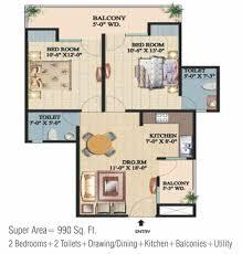 floor plan of ajnara integrity crossing republic ajnara india