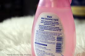 product review biore mild cleansing liquid nurul shaida vee