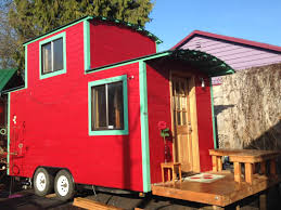 tiny houses a red caboose
