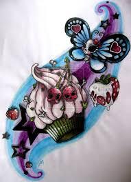 skull cake butterfly tattoo design tattoos book