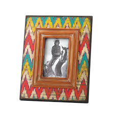 ikat chevron wood photo frame wholesale at koehler home decor ikat chevron wood photo frame 4 x 6