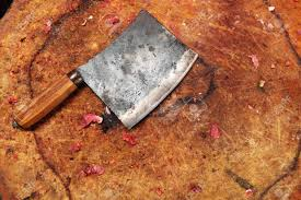 butcher knife on chopping block stock photo picture and royalty butcher knife on chopping block