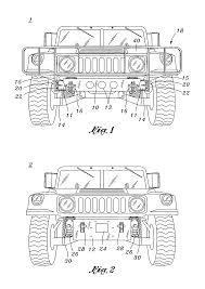 military hummer drawing patent us7090267 universal heavy duty front bumper and mounting