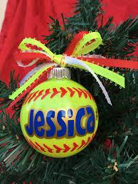 Softball Christmas Ornament - softball gifts softball mom softball player gift sports