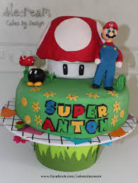 super anton super mario cake alecream