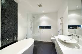 Small Bathroom With Freestanding Tub Bathroom Luxurious Black And White Bathroom Interior Idea Feat
