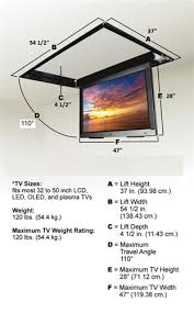 Vaulted Ceiling Tv Mount by Motorized Drop Down Ceiling Tv Bracket For 32 In To 52in Tvs