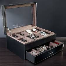 engravable box leather valet box and ten display engravable