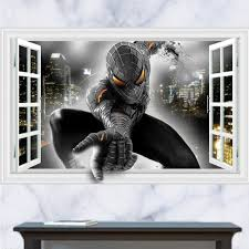 compare prices on spiderman stickers online shopping buy low kids bedroom wall decor 3d spiderman stickers removable children s room wall decals home decor cartoon wallpaper