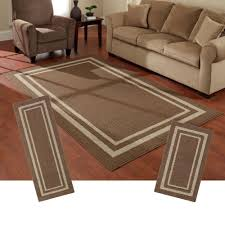 Living Room Rug Sets Frame Border Brown Area Rug Set Maples Rugs