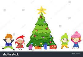 kids christmas tree stock vector 730383028 shutterstock