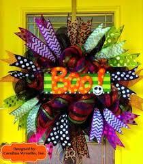 halloween trick or treat deco mesh door wreath halloween wreath