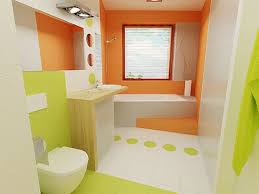 bathroom design colors mixed green color orange and white that beautify bathroom design