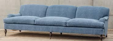 professor plum u0027s engish roll arm sofa denim inspired four hands
