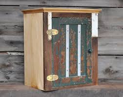 Reclaimed Wood Storage Cabinet Cabinets U0026 Food Storage Etsy