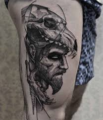 skull arm sleeve tattoo ideas on arm of wolf tattoo with skull with blackwork