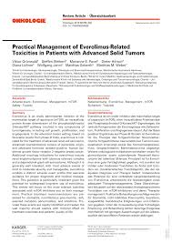 practical management of everolimus related toxicities in patients