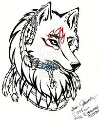 wolf wolf pencil and in color wolf wolf