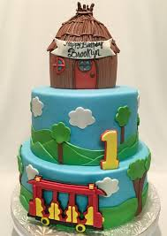 daniel tiger cake mymonicakes daniel the tiger cake with trolley and house