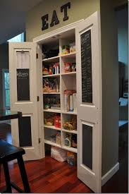 kitchen pantry doors ideas paint the pantry door an accent color picmia