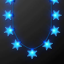 snowflake string of lights led big blue snowflakes string lights necklace magic matt s