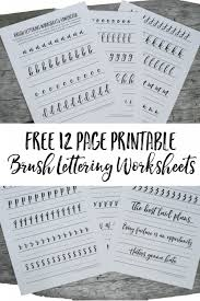 free brush lettering worksheets free brushes lettering and sell