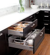 kitchen cabinet pull out storage racks appliance garages pull out shelves help organize kitchen